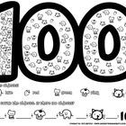 FREEBIE: This is a worksheet that students can do on the 100th day of school. Or when they are learning to count to 100. Students first color the cute clipa...
