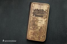 Adventure iPhone 6 Wallet Case Wooden Leather by WOODGRAWshop