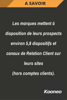 [A SAVOIR] Les marques mettent à disposition de leurs prospects environ 5,8 dispositifs et canaux de Relation Client sur leurs sites (hors comptes clients). #Infopreneur #Ecommerce #Kooneo