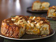 peach almond coffee cake