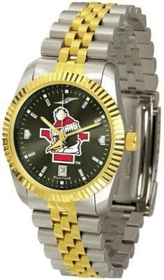 Youngstown State University Men's Stainless Steel Alumni Dress Watch by Squeak Me Shoes. $139.95. Men. Officially Licensed Youngstown State YSU Penguins Men's Stainless Steel Alumni Dress Watch. AnoChrome Dial Enhances Team Logo And Overall Look. Links Make Watch Adjustable. Stainless Case With 23kt Gold-Plated Bezel. College men's watch. Youngstown State Penguins two-tone alumni dress watch offers men a classic, business-appropriate look. Features a 23kt gold-plated b...