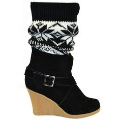 Fab.com | Buckled Sock Wedge Women's