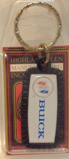 US Car Maker Logo Keychain ~ BUICK ~ Ancien Porte-Cle Neuf ~ USA Product ~ NOS