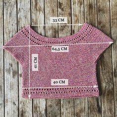 blusita a crochet Col Crochet, Crochet T Shirts, Gilet Crochet, Crochet Crop Top, Crochet Woman, Crochet Cardigan, Crochet Clothes, Crochet Bikini, Crochet Stitches Patterns