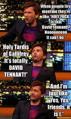 Holy Tardis - its David Tennant