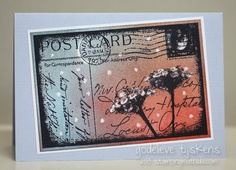 Card by Godelieve Tijskens using 'Floral Post' Collage Stamp by #darkroomdoor