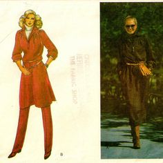 Tunic, Dress & Pants Pattern by SoSewSome on Etsy, $6.00