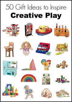 Gift Ideas for Kids: 50 Gift Ideas to Inspire Creative Play~ BuggyandBuddy.com