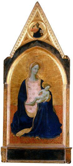 16) 202. Beato Angelico, Madonna col Bambino (Madonna dei Cedri), c.1425. Pisa, Museo Nazionale di San Matteo.