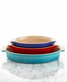 Le Creuset Oval Stoneware Baking Dishes