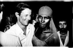 Grace Jones and Peter Beard photographed at Studio 54   New York 1978