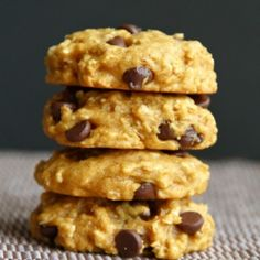 A vegan chocolate chip oatmeal cookie that's chewy on the outside and softer towards the center.
