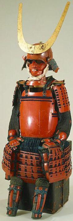 Suji bachi kabuto, okegawa ni-mai dou gusoku, early Edo Period, Tokyo Fuji Art Museum.