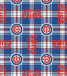 Cheer on your favorite MLB Sport team with this soft, warm and cozy fleece fabric. They are perfect for making scarves, mittens, throws, and are an ideal backing for making no sew fleece blankets. No Sew Fleece Blanket, Fleece Fabric, Cotton Fabric, Fleece Blankets, Plaid Fabric, Ribbed Fabric, Chicago Cubs Baseball, Chicago Cubs Logo, Espn Baseball