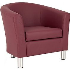 Melrose Faux Leather Tub Chair £129 - Office Furniture , alos comes in range of fabric
