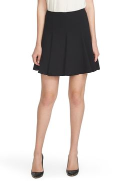 CeCe by Cynthia Steffe Crepe Flounce Skirt