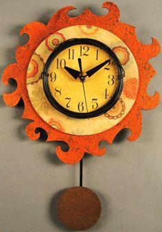 unique wood wall clock   duane scherer funky traditional a7 wall clock wall clocks mirrors