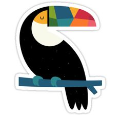rainbow-toucan-sticker-andy-westface @AndyWestface