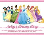 Disney princess printable invitation