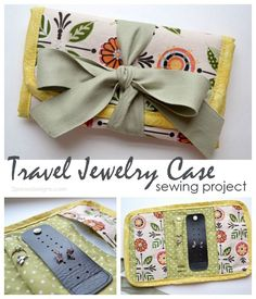 Travel Jewelry Case: sewing project - perfect gift idea for the frequent traveler in your life!