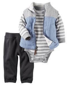 Baby Boy 3-Piece Little Vest Set from Carters.com. Shop clothing & accessories from a trusted name in kids, toddlers, and baby clothes.