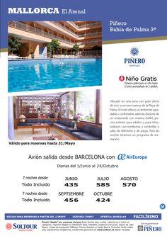 Anticipate y Ahorra hotel Pinero Bahia de Palma salidas desde Barcelona