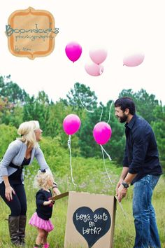 Twins gender reveal... This lady is clearly not pregnant with twins. Where is the belly?