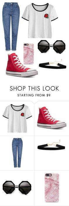 """""""Untitled #425"""" by partydora on Polyvore featuring Converse and Topshop"""