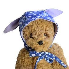 Baby or Child Bonnet w/ Bunny Rabbit Ears   Blue & Purple   Milk Tooth #baby #newbaby #babybonnet #rabbit #bunny #babyhat #bonnet #babygift #italy