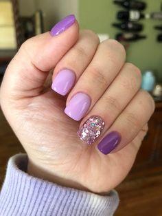 Short Square Acrylic Nails, Purple Acrylic Nails, Purple Nail Art, Purple Nail Designs, Best Acrylic Nails, Purple And Pink Nails, Cute Gel Nails, Fancy Nails, Diy Nails