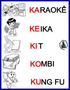 Resultado de imagem para letra k palavras e figuras