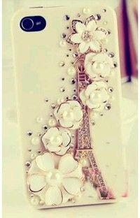 Eiffel tower And Flower Iphone 4 Or 5 Phone Case