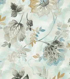 Kelly Ripa Upholstery Fabric-Light Hearted Spa