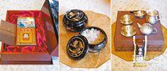 南韓總統朴槿惠4日向大陸國家主席習近平贈送的紅參和茶具等。(CFP)