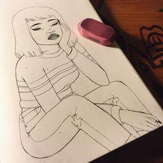 Tumblr #sketchbook #sketch #illustration #art  Erasssssing