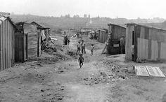 Favela em 1950 onde fica hoje o Parque Ibirapuera. Foto de Sebastião Assis Pereira.