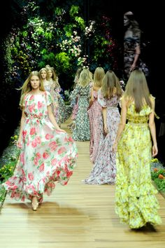 inspiration   floral bridesmaids   dolce and gabbana