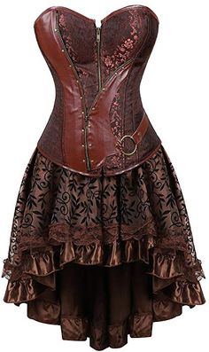 Women s Halloween Party Masquerade Gothic Brocade Lace Gothic Corset Skirt  Set  aaa67d6a6