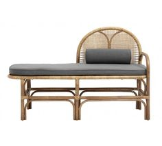 Put your feet up in style at home with this rattan bench from Nordal. A rustic touch for garden rooms or hallways, this bench is a comfy seating spot or stylish chaise longue. Banquettes, Logan House, Grand Hall, Oversized Furniture, Interior Work, Grey Cushions, Amazing Decor, Garden Chairs, Furniture