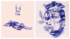 These Gorgeous Drawings Are 100% Ballpoint Pen. #Pen #Pens #PenArt #Art #Drawing #Surreal