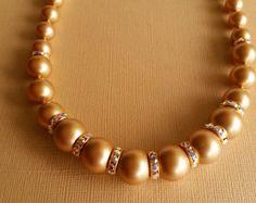 fatdog collar de la colección de boda  BSN209 perla y cristal
