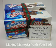 Fun Christmas gift idea.... Ho ho ho from the Ding Dongs in the counseling office =o)