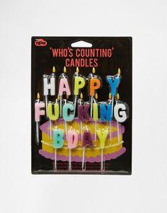 "Gifts   Свечки, составляющие надпись ""Happy Birthday"""