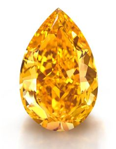 """The Orange,"" the largest fancy vivid orange diamond in the world. The VS1 clarity pear-shaped diamond of 14.82 carats is estimated at $17 million to $20 million."