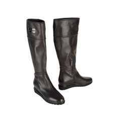 SALE - Mario Cerutti Zip Up Boots Womens Brown Leather - Was $335.00 - SAVE $165.00. BUY Now - ONLY $170.00