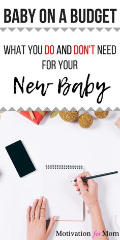 If you're preparing for having a baby on a budget, don't miss out on this list of what you DO and DON'T need for a new baby. Plus some bonus tips on even more ways to save money having a baby! Baby Gender Prediction, Help Getting Pregnant, Baby On A Budget, Money Saving Mom, Baby Planning, Baby Care Tips, Preparing For Baby, Baby List, Baby Must Haves