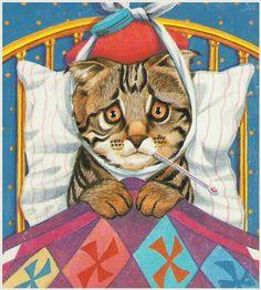 :( #cat #art This littl kitty is not feling very well, I felt like that yesterday.