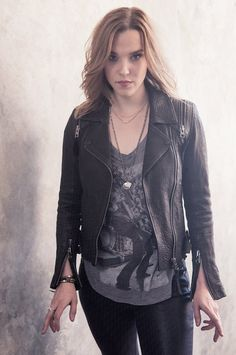 Lzzy Hale, lead vocalist, guitarist, for Halestorm...