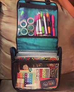 Hanging Traveler Case for planner supplies.