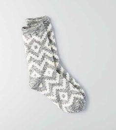 American Eagle gray and white print crew socks Cabin Socks, Grey Socks, Cute Socks, Fashion Socks, Boot Socks, Sock Shoes, Stockings, My Style, Clothes